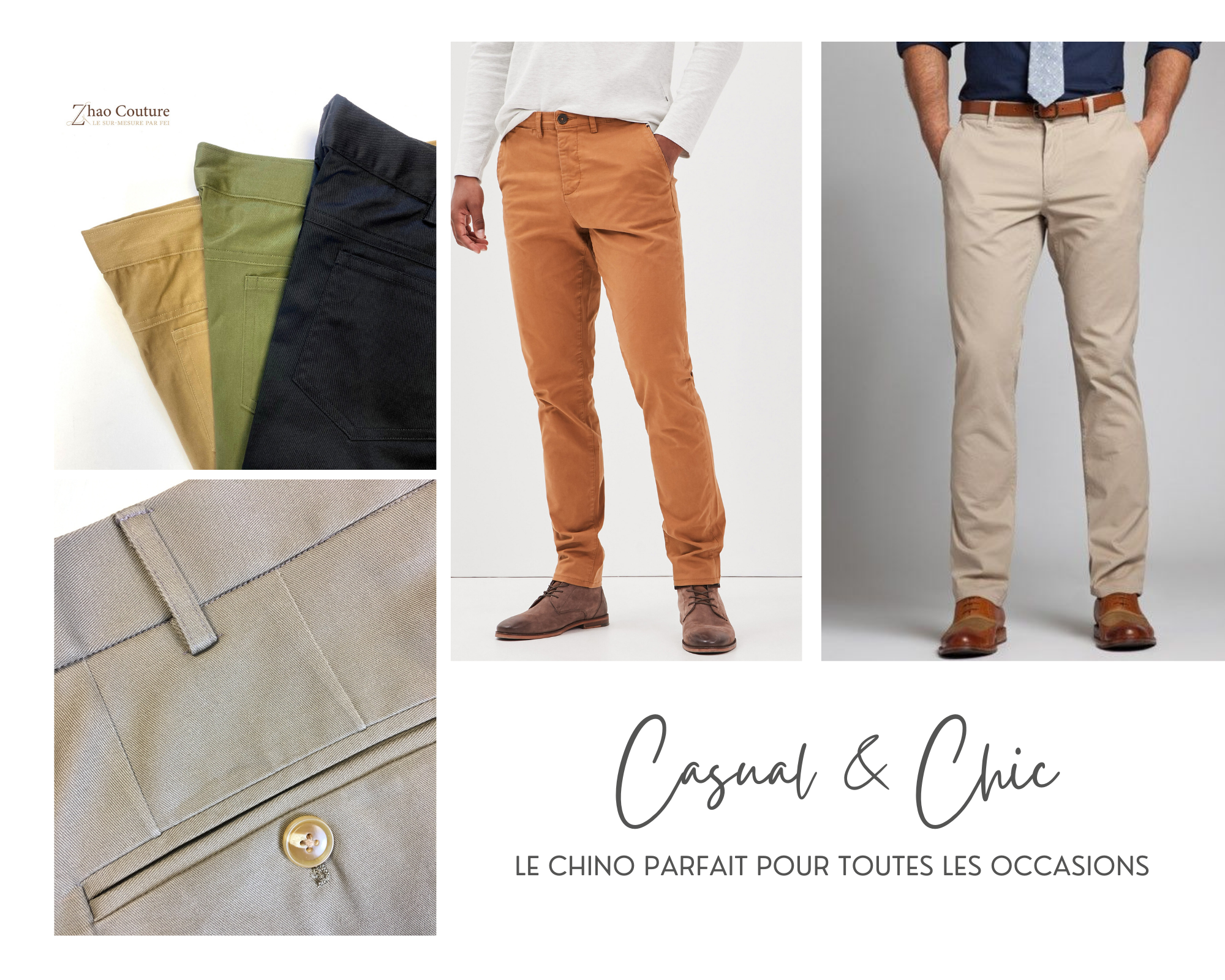 On confectionne vos chinos !